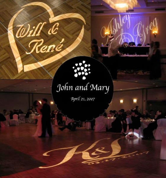 Western MA DJ Services Name in Lights Wedding GOBO